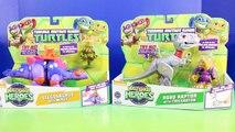 Teenage Mutant Ninja Turtles Half Shell Heroes Stegosaurus And Robo Raptor Dinosaurs