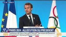 """JO 2024 à Paris: """"Beaucoup étaient sceptiques mais vous l'avez fait"""", déclare Emmanuel Macron"""