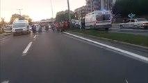 Yolun Karşısına Geçmeye Çalışan Kadına Motosiklet Çarptı