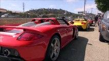 Supercar Rally: Ferrari Enzo, Bugatti Veyron, Lambo Aventadors, Porsche Carrera GTs, Etc. *SOUNDS*