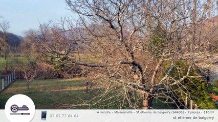 A vendre - Maison/villa - St etienne de baigorry (64430) - 7 pièces - 110m²