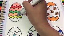 Livre enfants coloration Pâques Oeuf pour apprentissage arc en ciel vidéos Pages colo surprise