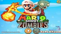 Plants Vs Zombies Nintendo Mario Shoot Zombies Game Walkthrough All Levels 1-12
