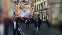 OMG! Fights break out as Cologne fans take over London Arsenal vs Cologne Full video
