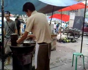 Les raviolis au marché