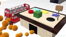 Autobus les couleurs éducatif géométrique marteau Apprendre Londres formes jouet en bois Double étage p