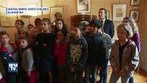 Macron visite le château de Monte-Cristo auprès des enfants