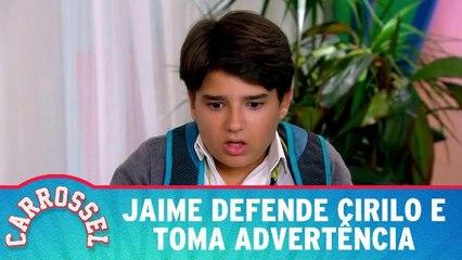 Jaime defende Cirilo e toma advertência