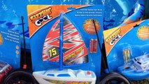 **Toy Boats & Beats!!** Musical Toy Boats Video! Rescue Shark Ship & Remote Control Boats!