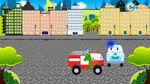 Мультфильм Пожарная машина и Полицейская машина в Городе | Мультики про машинки
