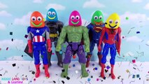 Marvel DC Comics Superheroes Finger Family Play-Doh Smiley Face Heads Best Learn Colors Video