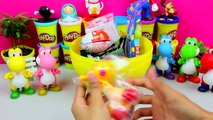 Giant Super Mario Surprise Egg Play Doh Opening Super Mario Brothers Toys