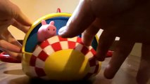 Peppa Pig Weebles Wobbly Rocket Hasbro Toy Review | Peppa Wutz Spielzeug