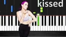 Katy Perry - I kissed a girl Piano Cover with Lyrics -- Synthesia Piano Tutorial - YouTube