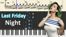 Katy Perry - Last Friday Night (T.G.I.F.) Piano with Lyrics -- Synthesia Piano Tutorial - YouTube