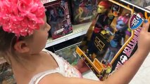 ToysRus Doll Shopping: Monster High, Barbie, Disney Princesses toy aisle fun