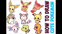 How to Draw Pokemon Charers (Cute Chibi Kawaii Baby) Easy Step by Step Drawing Tutorials