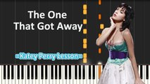 The One That Got Away - (Piano Tutorial+Cover) __ Lyrics by Kety Perry -- Synthesia lesson - YouTube