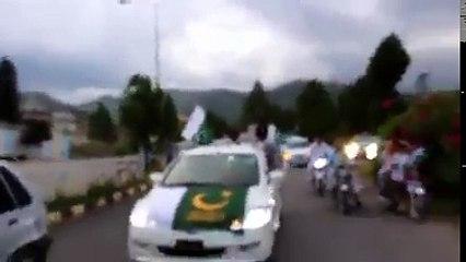 سوات ، کانجو میں تیزرفتاری کے باعث موٹر کار کیساتھ پیش آنیوالے حادثہ کا منظر