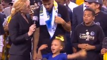 Riley Curry Steals Steph's Thunder at Warriors Finals Celebration