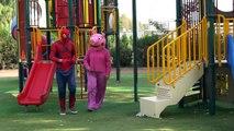 Peppa Pig - Hide And Seek vs spiderman PLAYING HIDE and SEEK