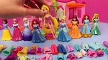 DisneyCarToys Frozen Elsa & Polly Pocket Kids Toys Disney Princess Magic Clip Dolls Dress
