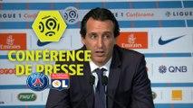 Conférence de presse Paris Saint-Germain - Olympique Lyonnais (2-0) : Unai EMERY (PARIS) - Bruno GENESIO (OL) / 2017-18