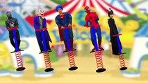 Learn Colors for Kids Finger Family Song Nursery Rhymes Superhero Umbrella Body Paint Foam