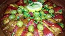 طاجين بكويرات كفتة الدجاج والزيتون - Tajine de boulettes de poulet aux olives