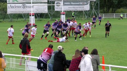Rugby Fédérale 3 : Haguenau 30 - 17 Lons le Saunier