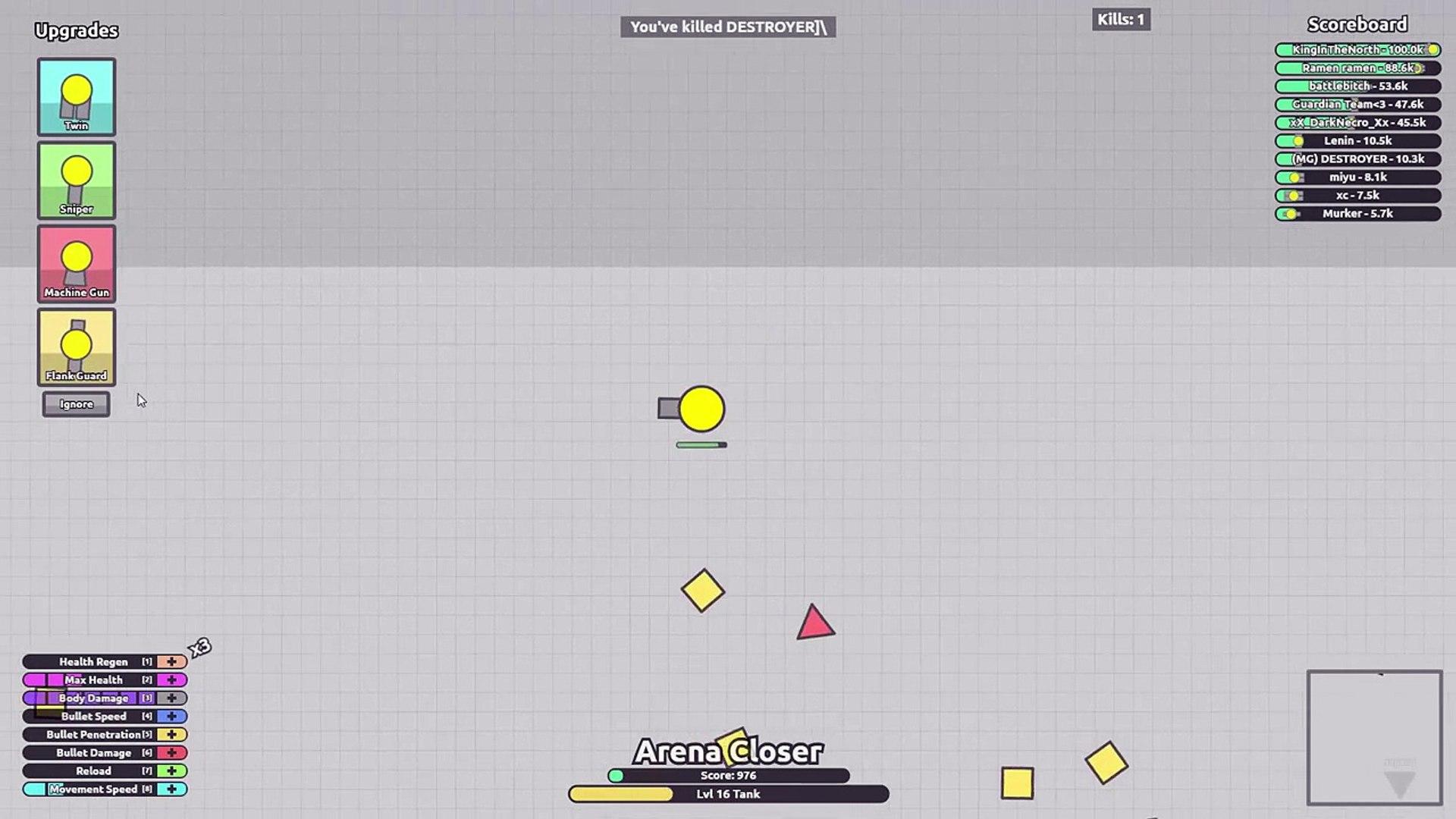 Diep.io Hack - I Am an Arena Closer Mod // Diep.io