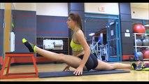 Et défi la flexibilité gymnastique gymnastique étirements contre faire des exercices Yoga yoga ballet stretc