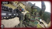 Handicapped in WHEELCHAIR plays AIRSOFT