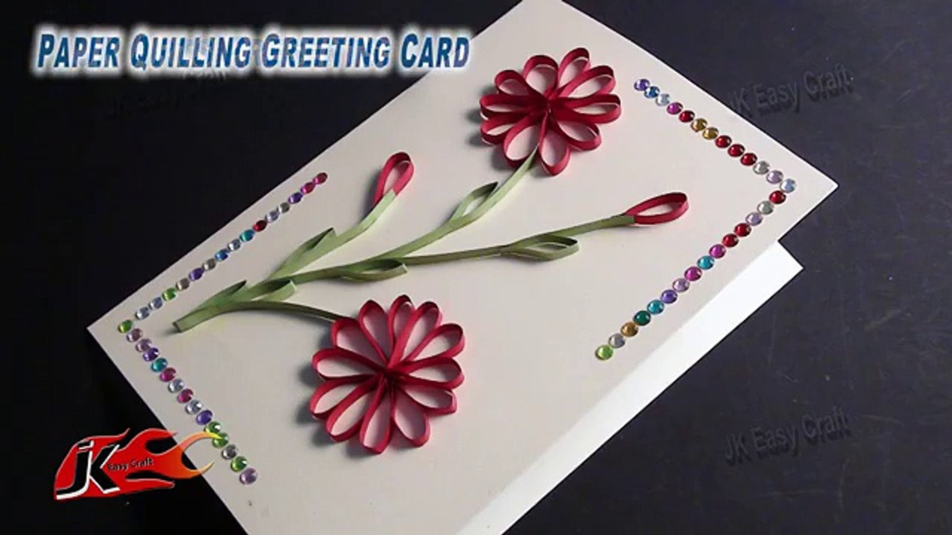 Diy Easy Paper Quilling Greeting Card Without Tool How To Make Jk Craft 050