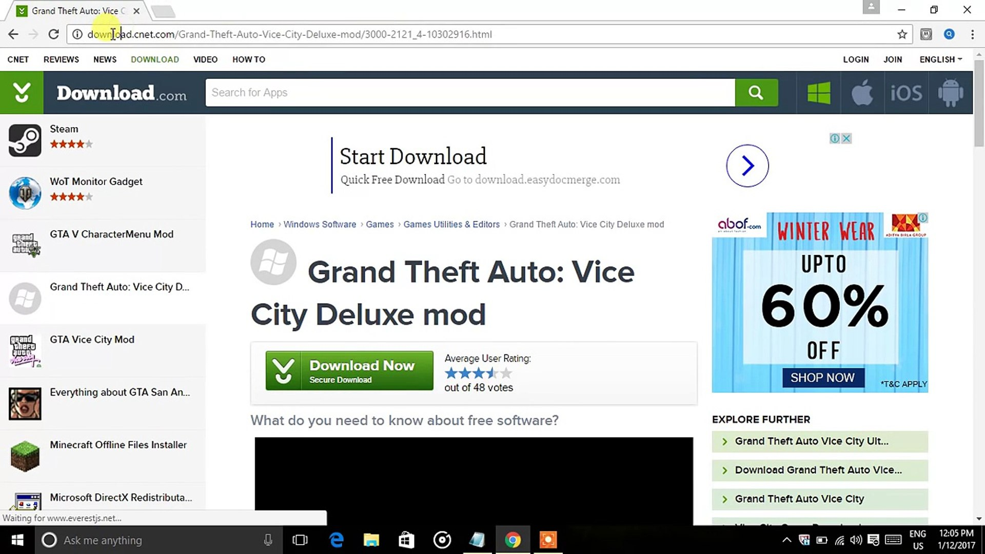 how to download and install gta vice city deluxe mod in you pc/laptop