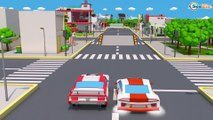 COLOR STREET CARS & Trucks w 3D Animation Cars Cartoon for kids and babies! Cars & Trucks Stories