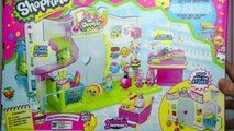 Shopkins Grocery Store Small Mart Playset Toy Unboxing Review Blind Basket Opening - Kids Toys