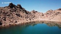 Daredevil completes 'highest ever slackline walk over water'