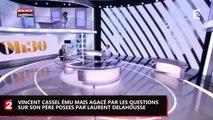 Vincent Cassel ému mais agacé par Laurent Delahousse en évoquant son père, Jean-Pierre Cassel (Vidéo)