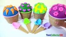 Fun Play-Doh Ice Cream Surprise Bowls Tsum Ice Age Collition Course SpongeBob Eggs Opening