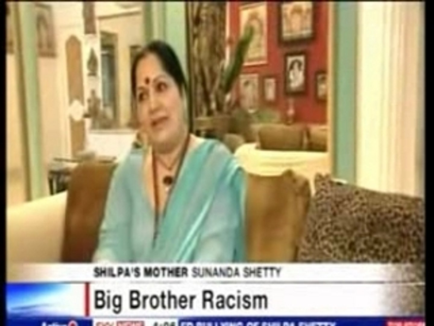 Shilpa Shetty - Her Mother's Sky News Interview 1