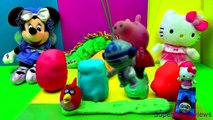 Play-Doh Surprise Eggs Hello Kitty Peppa Pig Spiderman Barbie Thomas Kinder Surprise R2D2 Smurfs