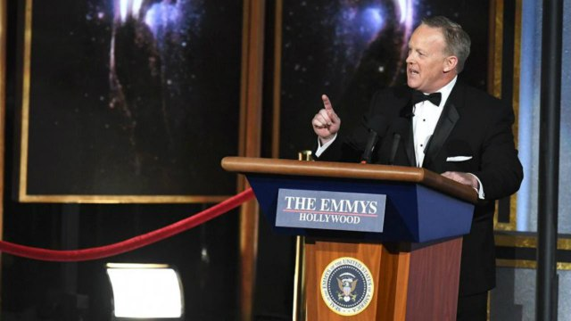 """Sean Spicer Says It Was """"An Honor"""" to Participate in the Emmys   THR News"""