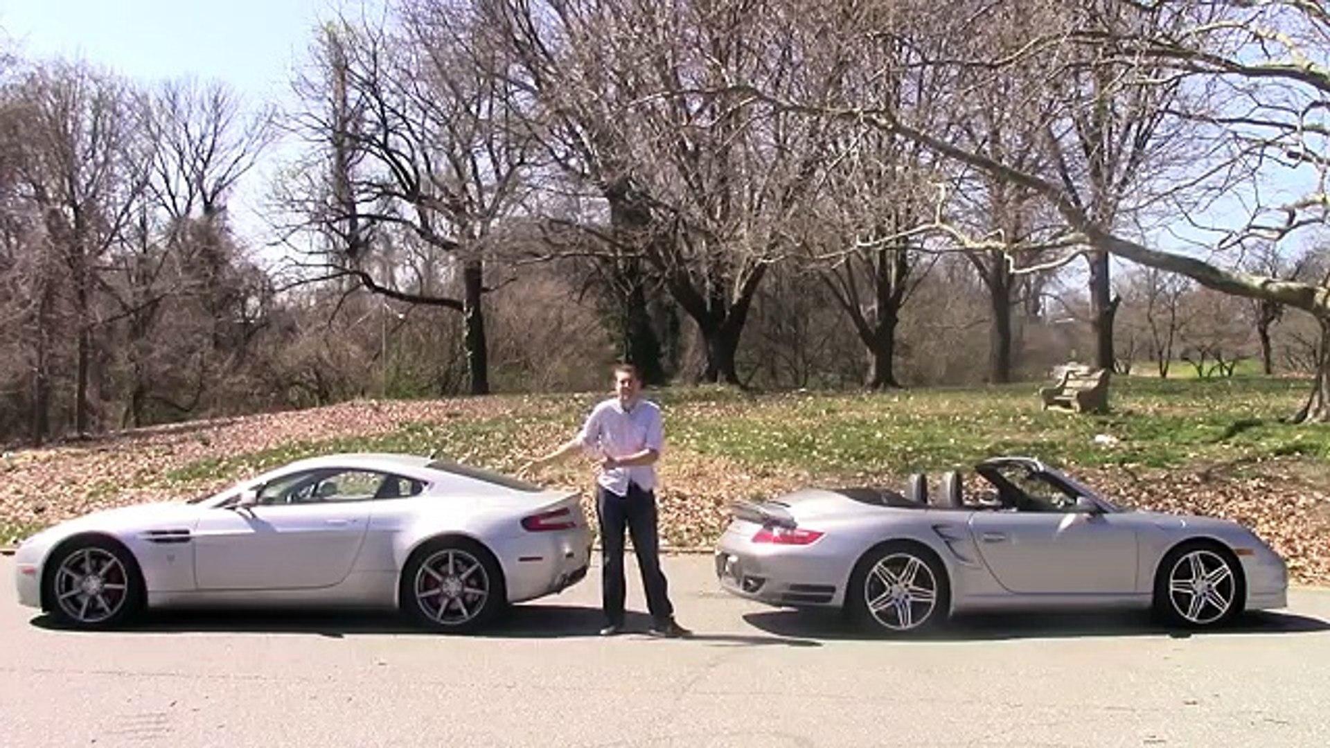 Aston Martin V8 Vantage Vs Audi R8 Vs Porsche 911 Turbo видео Dailymotion