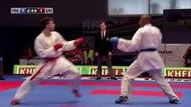 Kenji Grillon vs Georgios Tzanos. Final Kumite Male -84kg. 48th European Karate Championships