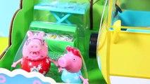 Voiture vacances maman pique-nique porc jouer avec Doh Peppa Campervan Autocaravana Camping de Vac