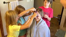 Kids Help Shave Mom's Head So They Can Face Cancer Together