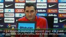 """Barça - Valverde : """"Beaucoup de joueurs peuvent évoluer à la place de Dembélé"""""""