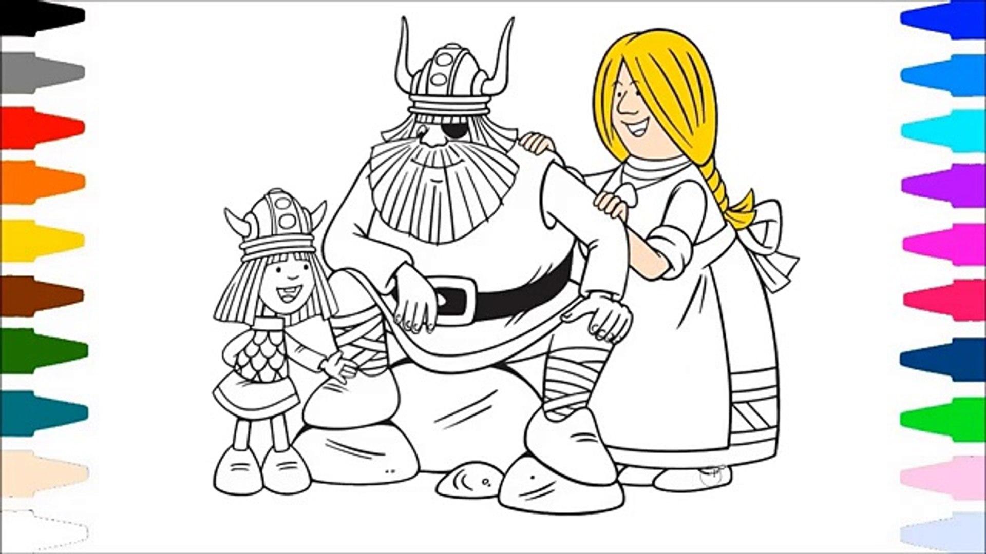 Vikingler Boyama Sayfasi Cizim Ve Boyama Tr Cocuk Video