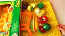 Jouet achats chariot Apprendre des noms de jouet et les légume jouet supermarché achats panier